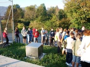 Pred spomenikom borcima i žtvama iz NOBa u Žejanama